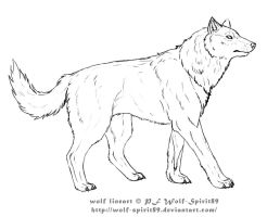 wolf lineart by Wolf-Spirit89