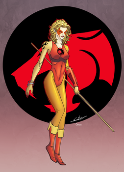Cheetara by Spider Guile colored by DanOlvera