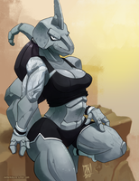 O is for Onix by ZwitterKitsune
