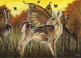 ACEO Meadow Fawns by DawnUnicorn
