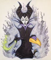 Maleficent Sketch by DanGreavesArt