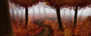 Mist Forest by AbstractDawn