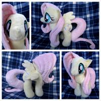 Fluttershy Plushie (Open Wing) Version 2.0 by equinepalette