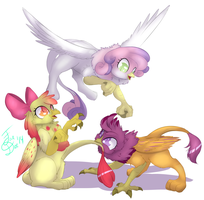 Cutie Mark Griffons by FarewellDecency