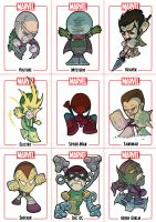 Chibi Spider-Man Sheet 1 by Juggertha