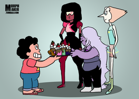 Hot Chocolate for the Crystal Gems by morphmaker
