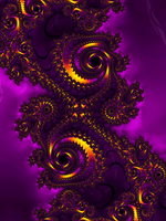 The Heat of Fractal Purple by LuftKrigare