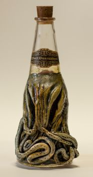 Lovecraftian Chtulhu Bottle by FraterOrion