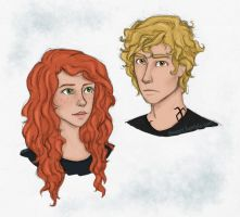Clary and Jace by Isuani