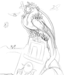 Black Wings of the Reach speedsketch by BambooFoxFire