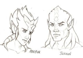 WoW - Atreyuu and Jexuun by Doublevisionary