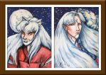 Bearded Inu Brothers - Inuyasha and Sesshoumaru by ebjeebies