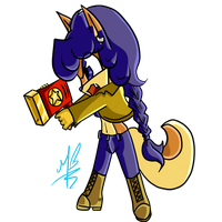 Carmelita The Fox Chibi by Atalastic-Butterfly