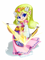 Wind Waker Art Jam: Princess Zelda by angelasdf
