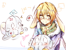 OC: Luc and Bubu by Haxelo