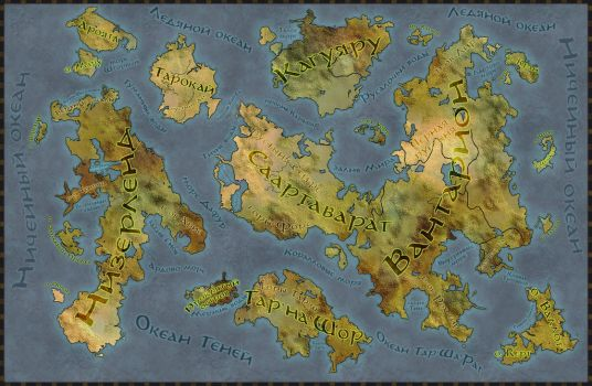 Physical world map Ignis by Senso0scuro