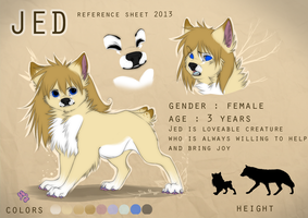 Jed reference sheet 2013 by Jedwolfess