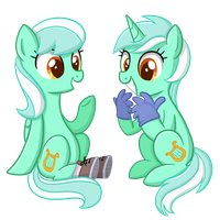 Lyra and Skyra by TheCheeseburger