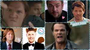 Supernatural Collage Wallpaper by stuffimadeonpaint