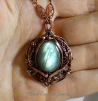 Labradorite and Copper - Mystical Glow by blackcurrantjewelry
