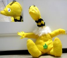 Sneetch plushie by KittyNamedAlly