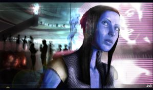 Liara T'soni - Shadow Broker by Protocolrain