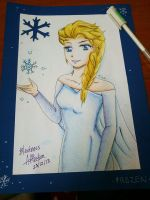 Frozen Elsa by toxicwarning
