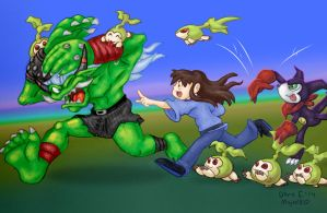 Tanemon Launch Attack! by MujakiKid