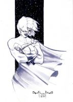 Power Girl Sketch by qualano