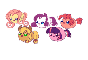 MLCblobs (remaining mane 6) by kuser77
