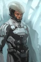 some kinda futuristic soldier by TGY
