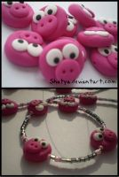 Fimo Pigs by Shatya