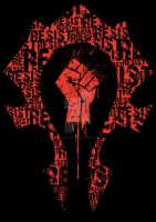 Horde - Resist - T-Shirt OMFG by Dancinturkey