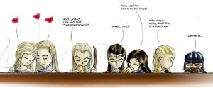 LotR: Elven Tea Party by bluphino