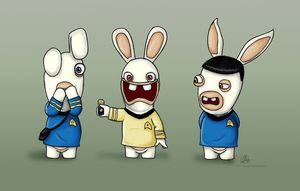 Bunnies Can't Do Star Trek by ringosdiamond