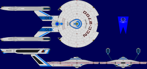 USS Loknar Refit Multi-View by captshade