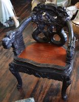 STOCK - Oriental Carved Chair by jocarra