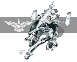 jet mecha by heckthor