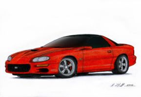 2002 Chevrolet Camaro SS Drawing by Vertualissimo