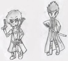Chibi Dante and Vergil by Mysteriouspizza