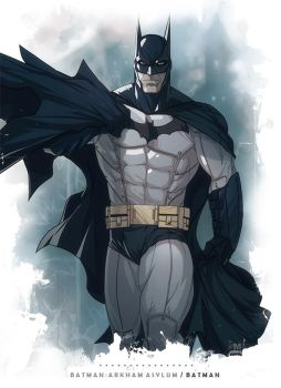 Batman Arkham Asylum - Batman by BrokenNoah