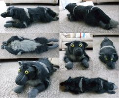 Wolf Fursona Plush by DL2288