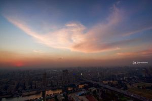 Cairo from the top by ho44am
