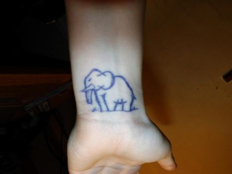 Elephant Tattoo by Zeldads