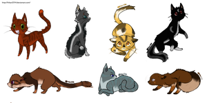Warrior Cats Adopts _OPEN_ by MichelleTheCat