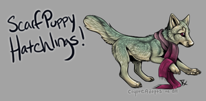 Scarf Puppy Hatchlings! [Egg #1] by CoyoteAdopts