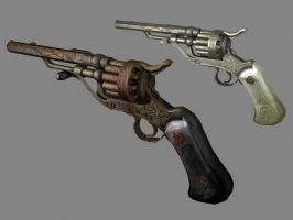 Heaven and Hell Revolvers by dano555666