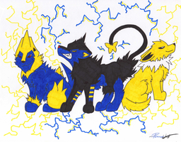 Trio of Thunder by PeaceWolfLegacy