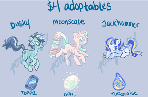 Birthstone jewel-eye pony adoptables - CLOSED by ponywise