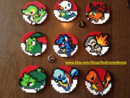 Pokemon Icon Coaster Sets by HaleysRedComet